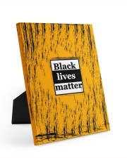 Black lives matter 8x10 Easel-Back Gallery Wrapped Canvas front