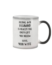 Being my husband Color Changing Mug tile
