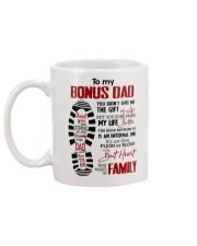 To My Bonus Dad Foot Print Mug Gift For Stepdad Mug back