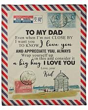TO MY DAD - NOT CLOSE Fleece Blanket tile