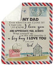 TO MY DAD - NOT CLOSE Sherpa Fleece Blanket tile