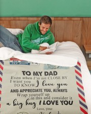 """TO MY DAD - NOT CLOSE Large Sherpa Fleece Blanket - 60"""" x 80"""" aos-sherpa-fleece-blanket-60x80-lifestyle-front-07"""
