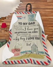 """TO MY DAD - NOT CLOSE Large Sherpa Fleece Blanket - 60"""" x 80"""" aos-sherpa-fleece-blanket-60x80-lifestyle-front-11"""