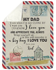 """TO MY DAD - NOT CLOSE Large Sherpa Fleece Blanket - 60"""" x 80"""" front"""