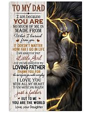 THUNDER LION - TO MY DAD 16x24 Poster front