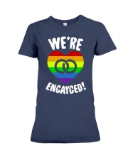 WE ARE ENGAYGED  Premium Fit Ladies Tee thumbnail