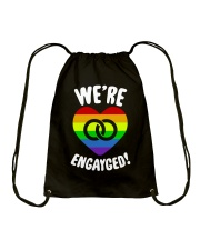 WE ARE ENGAYGED  Drawstring Bag thumbnail