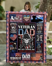 """TO MY DAD - VETERAN DAD Quilt 50""""x60"""" - Throw aos-quilt-50x60-lifestyle-front-01"""