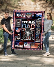 """TO MY DAD - VETERAN DAD Quilt 50""""x60"""" - Throw aos-quilt-50x60-lifestyle-front-02"""