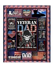 "TO MY DAD - VETERAN DAD Quilt 50""x60"" - Throw front"