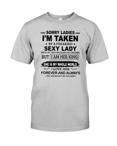 SORRY LADIES I'M TAKEN BY A SEXY LADY