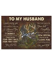 TO MY HUNTER HUSBAND POSTER 24x16 Poster front