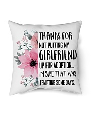 "AWESOME GIFT FOR MOTHER OF GIRLFRIEND Indoor Pillow - 16"" x 16"" thumbnail"