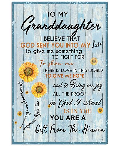 TO MY GRANDDAUGHTER GOD SENT YOU INTO MY LIFE