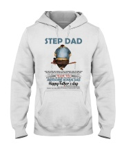 Happy Father's Day - Best gift for stepdad Hooded Sweatshirt tile