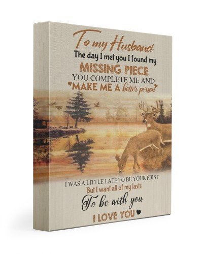 To my husband - missing piece