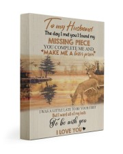To my husband - missing piece 11x14 Gallery Wrapped Canvas Prints front