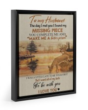 To my husband - missing piece Floating Framed Canvas Prints Black tile
