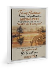 To my husband - missing piece Floating Framed Canvas Prints White tile