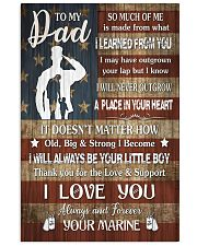 TO MY DAD - LEARNED FROM YOU  16x24 Poster front
