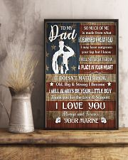 TO MY DAD - LEARNED FROM YOU  16x24 Poster lifestyle-poster-3