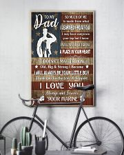 TO MY DAD - LEARNED FROM YOU  16x24 Poster lifestyle-poster-7
