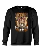 Father Protector Hero Lion Crewneck Sweatshirt thumbnail