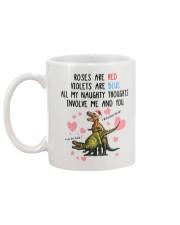 Naughty Thought Christmas Mug Mug back
