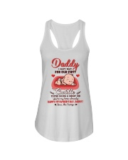 TO DADDY - FIRST CUDDLE Ladies Flowy Tank tile