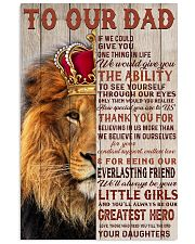RED LION - TO OUR DAD FROM DAUGHTERS 16x24 Poster front