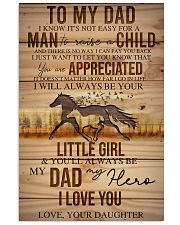 TO MY DAD - HORSE NOT EASY FROM DAUGHTER 16x24 Poster front