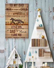 TO MY DAD - HORSE NOT EASY FROM DAUGHTER 16x24 Poster lifestyle-holiday-poster-2