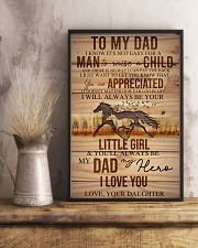 TO MY DAD - HORSE NOT EASY FROM DAUGHTER 16x24 Poster lifestyle-poster-3