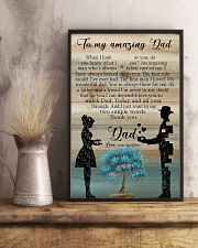 TO MY DAD - WHEN I LOOK AT YOU 16x24 Poster lifestyle-poster-3