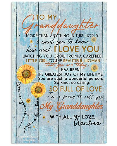 TO MY GRANDDAUGHTER I LOVE YOU