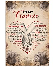 TO MY FIANCEE 16x24 Poster front