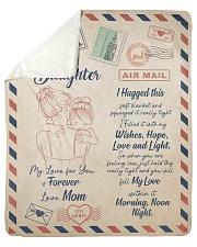 My Lover For You Is Forever Blanket For Daughter Sherpa Fleece Blanket tile