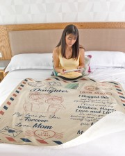 """My Lover For You Is Forever Blanket For Daughter Large Sherpa Fleece Blanket - 60"""" x 80"""" aos-sherpa-fleece-blanket-60x80-lifestyle-front-15"""
