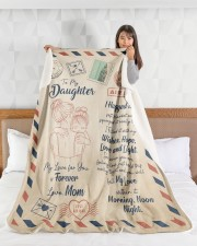 """My Lover For You Is Forever Blanket For Daughter Large Sherpa Fleece Blanket - 60"""" x 80"""" aos-sherpa-fleece-blanket-60x80-lifestyle-front-17"""
