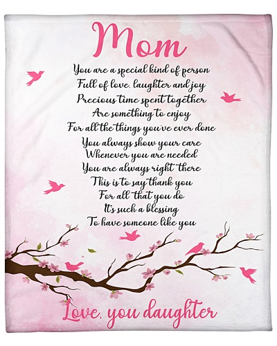 LOVE YOU MOM FROM DAUGHTER BLANKET