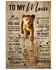 MOM YOU ARE THE WORLD LION POSTER 16x24 Poster front