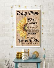 MOM YOU ARE THE WORLD SUNFLOWER POSTER 16x24 Poster lifestyle-holiday-poster-3