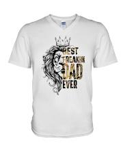 BEST FREAKING DAD V-Neck T-Shirt thumbnail