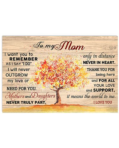 To my mom - I love you