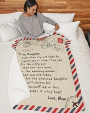 "BIG HUG FROM MOM TO DAUGHTER Large Sherpa Fleece Blanket - 60"" x 80"" aos-sherpa-fleece-blanket-60x80-lifestyle-front-06"