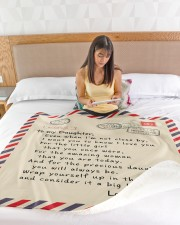"BIG HUG FROM MOM TO DAUGHTER Large Sherpa Fleece Blanket - 60"" x 80"" aos-sherpa-fleece-blanket-60x80-lifestyle-front-15"
