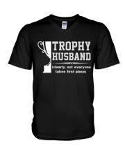 Trophy husband V-Neck T-Shirt tile