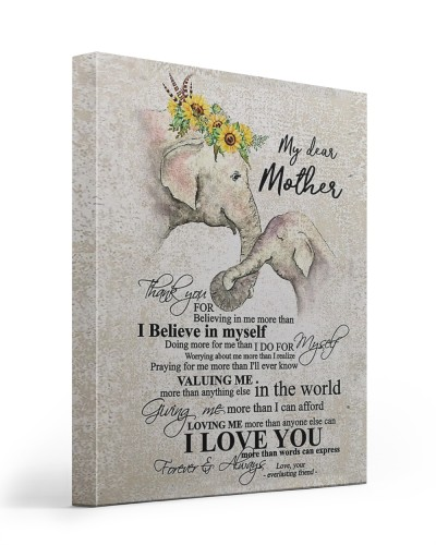 My dear Mother - canvas