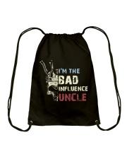 BAD INFLUENCE UNCLE Drawstring Bag tile