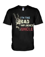 BAD INFLUENCE UNCLE V-Neck T-Shirt tile